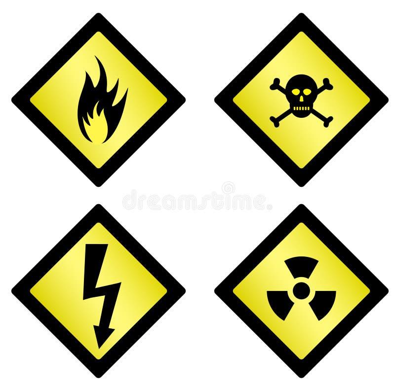Danger Symbols Stock Vector Illustration Of Explosive 8885550