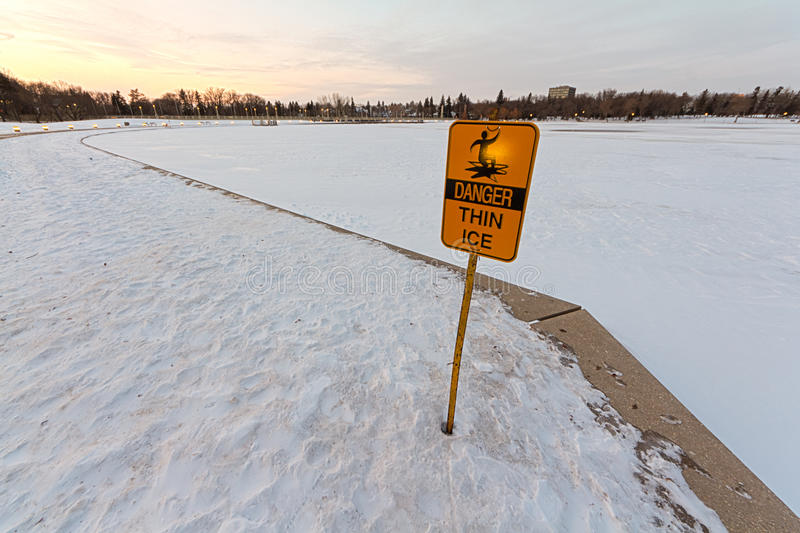 Danger, Thin Ice stock images