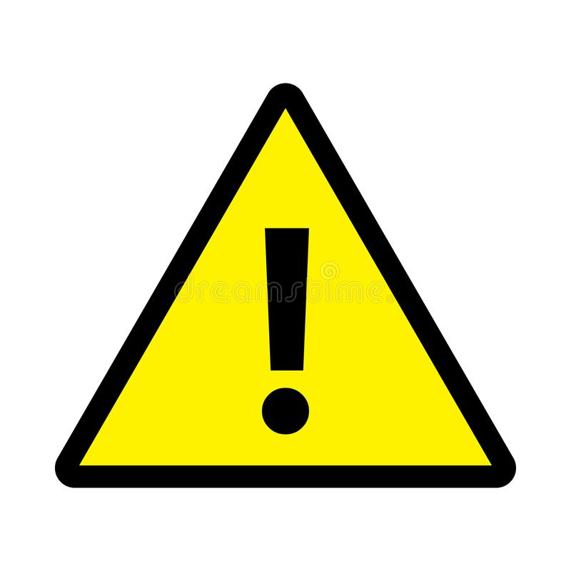 Danger Triangle Sign Yellow Background Stock Vector