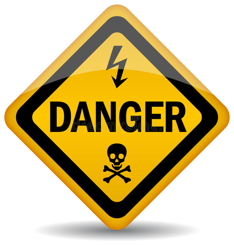 Danger warning sign vector illustration