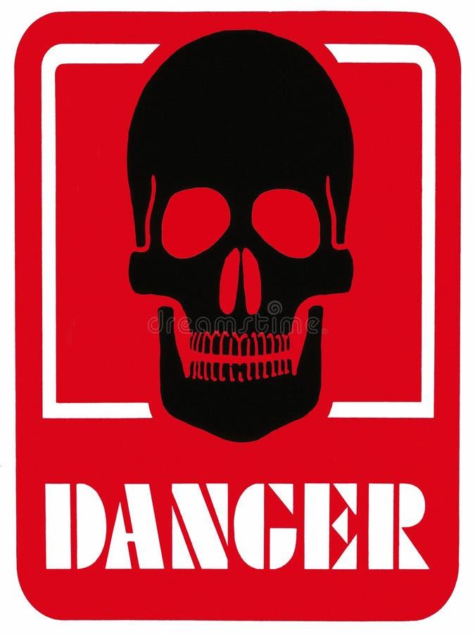 DANGER OF DEATH - Hazard Warning Sign royalty free stock photos