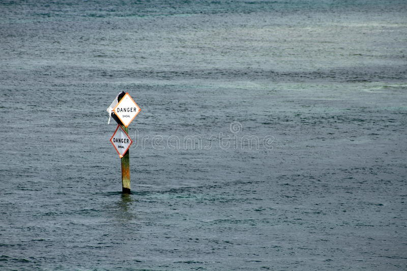 Download Danger in the Water stock image. Image of shallow, sign - 12596459