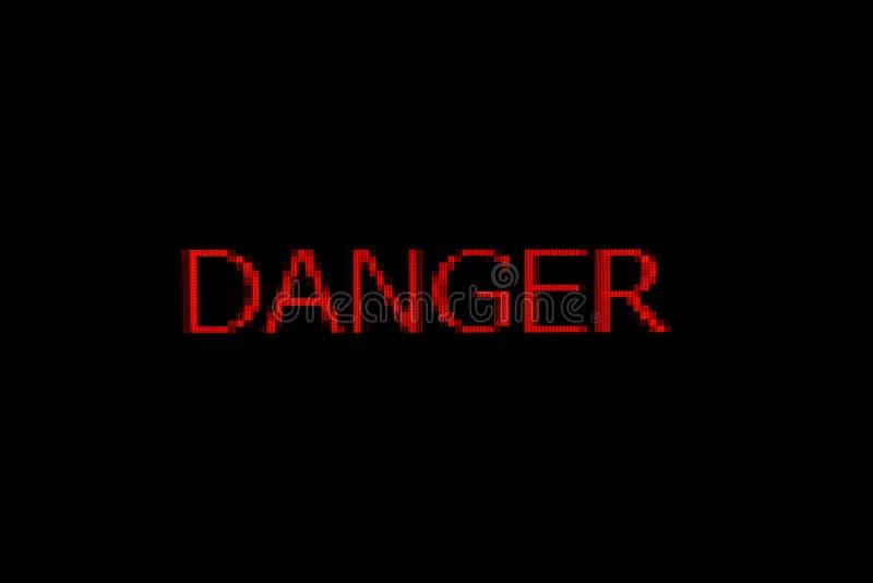 Danger word. On black background stock photos