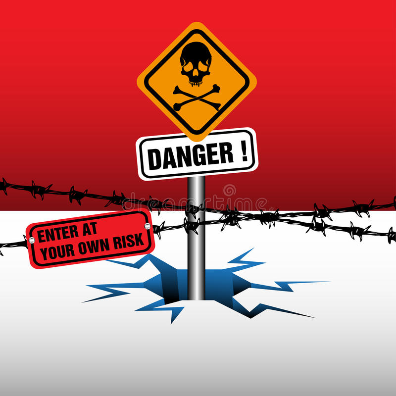 Download Danger zone stock vector. Illustration of awareness, mark - 26620590