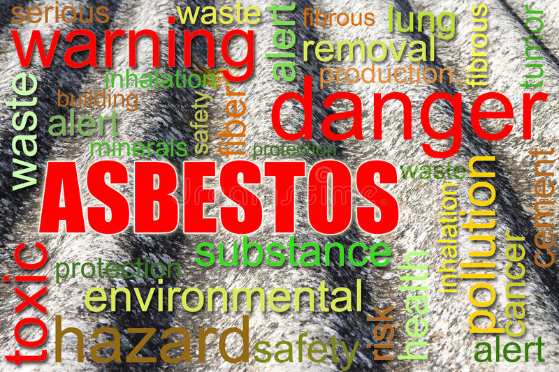 Dangerous asbestos roof concept image. Medical studies have shown that the asbestos particles can cause cancer