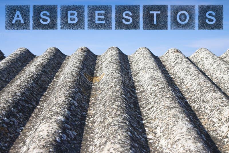 Dangerous asbestos roof. royalty free stock photo