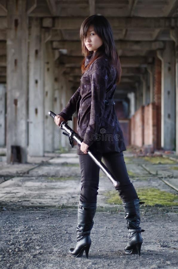 Free Dangerous Asian Girl Stock Images - 13621654