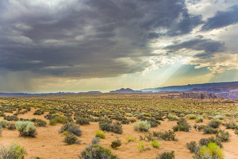 Dangerous clouds with hurricane and heavy rain near Page, Arizona stock image