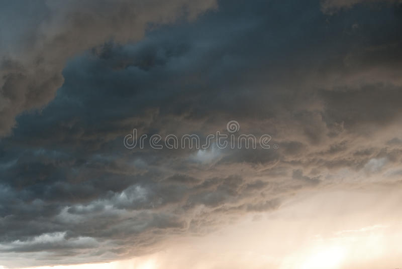 Dangerous clouds before the storm stock photography