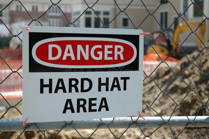 Dangerous Construction Area stock image