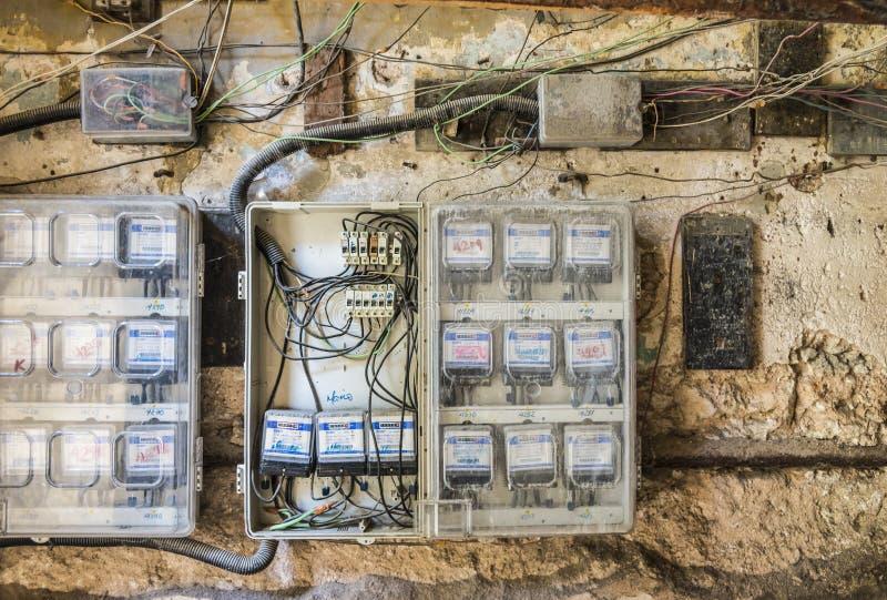 Dangerous Electrical Wiring Havana Editorial Image - Image of cuban ...