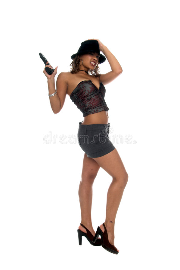 Dangerous Gangster Girl royalty free stock images