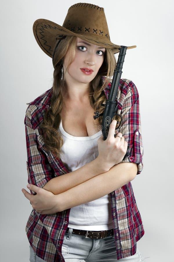 Download Dangerous girl stock image. Image of girl, cowboy, attractive - 16914141