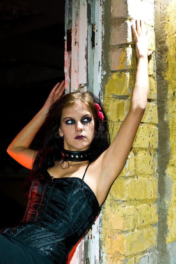 Dangerous Goth Girl royalty free stock image