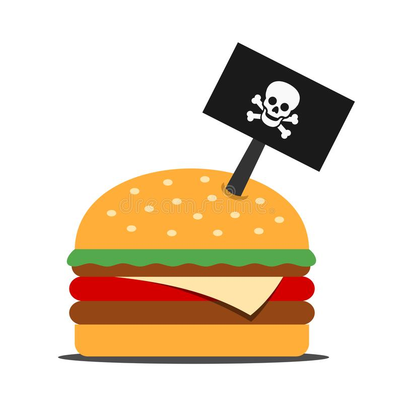 Dangerous hamburger and junk food from fast food stock photos