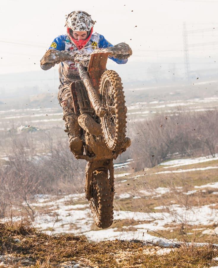 Motocross jump stock photography