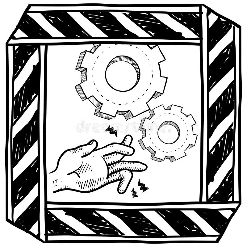 Download Dangerous Machinery Warning Vector Royalty Free Stock Photography - Image: 25790667