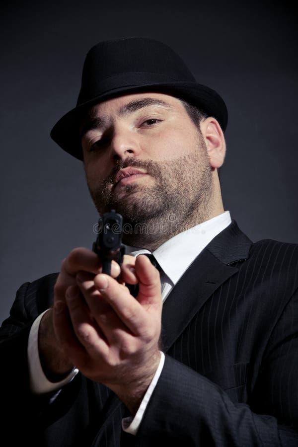 Download Dangerous Man Pointing A Gun Stock Photo - Image: 23259732