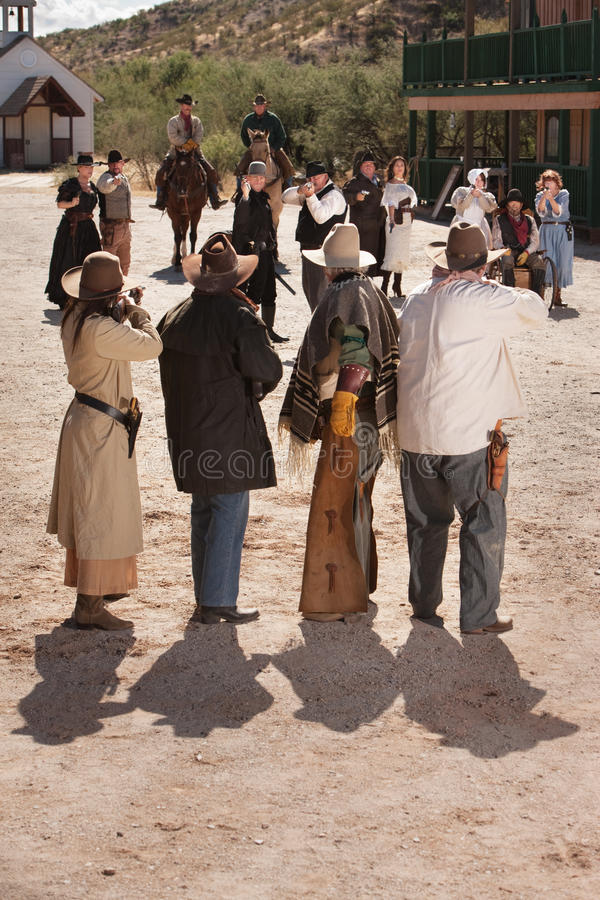 Download Dangerous Old West Shoot Out Stock Photo - Image: 24882412