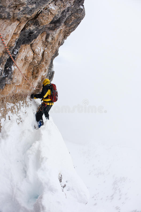 Download Dangerous Pitch During An Extreme Winter Climbing Royalty Free Stock Photo - Image: 17895615