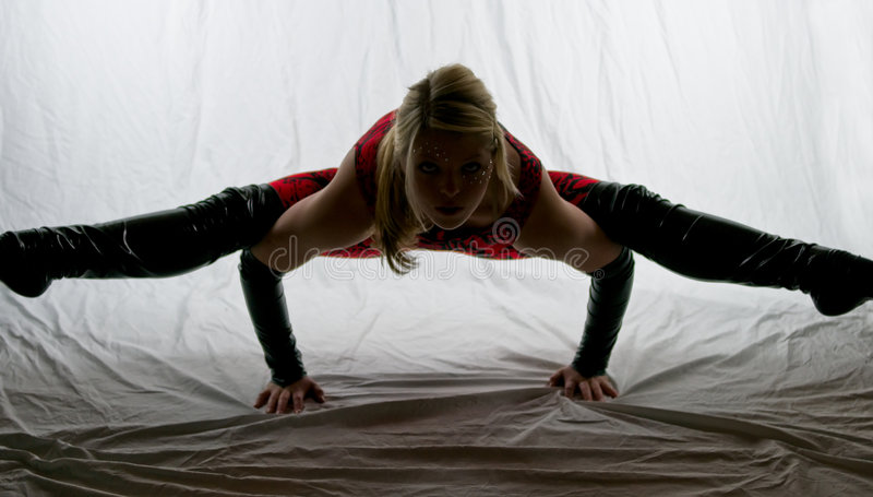 Download Dangerous Pose II stock photo. Image of acrobatics, background - 7399672