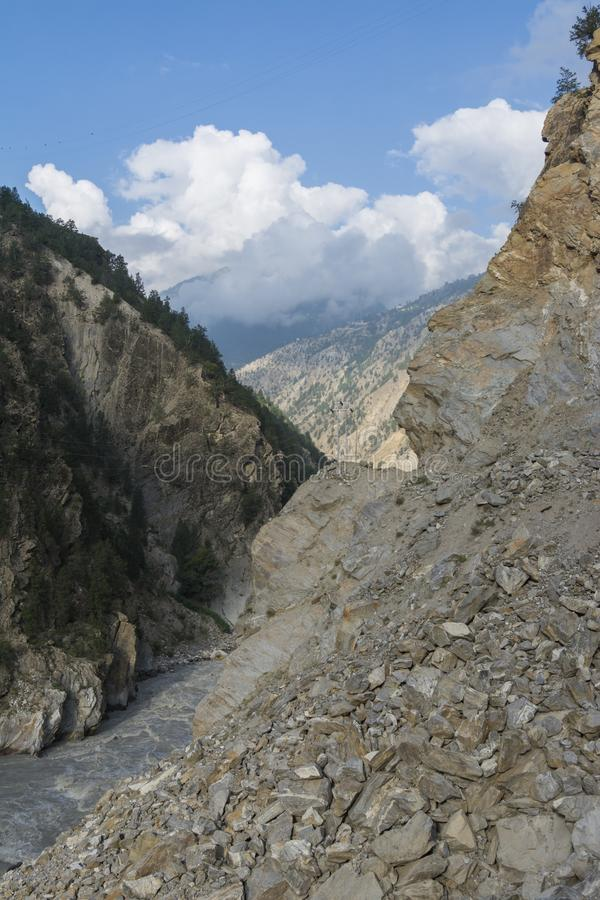 Dangerous Roads of Kinnaur in Himachal Pradesh,India. Asia,Asia stock photos