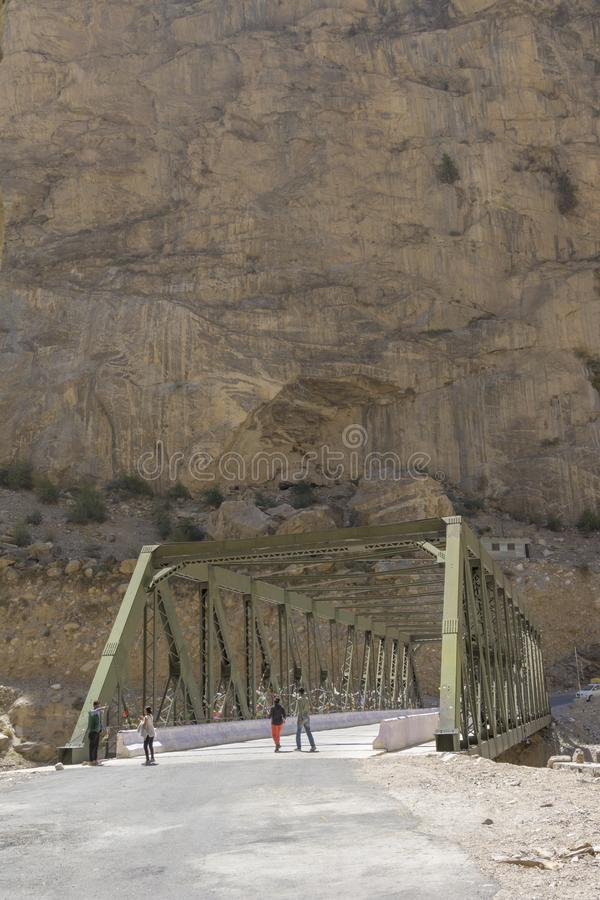 Dangerous Roads of Kinnaur in Himachal Pradesh,India royalty free stock image