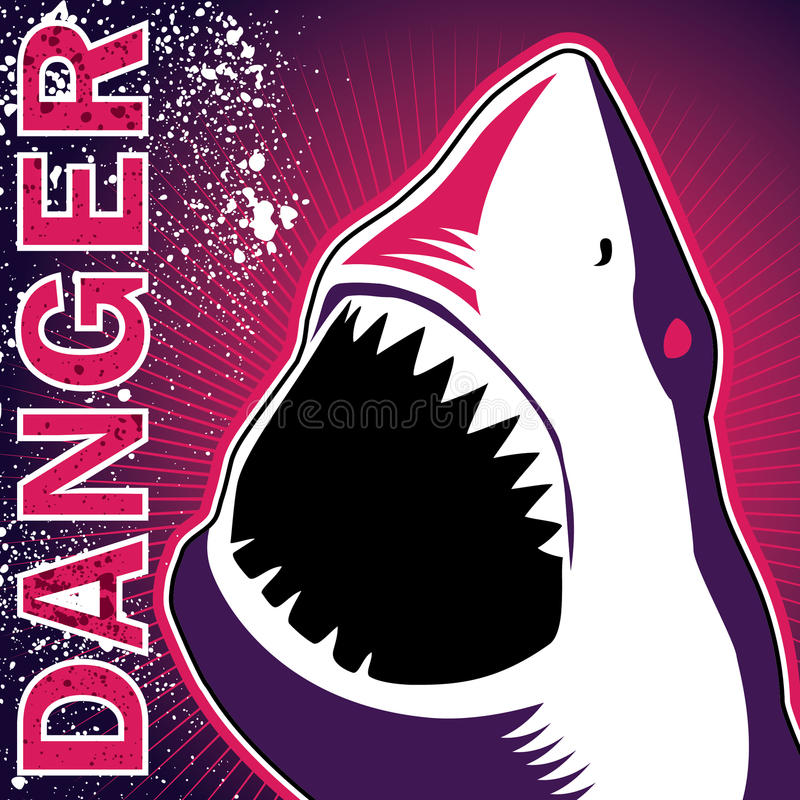Download Dangerous shark banner stock vector. Image of fishing - 17743252