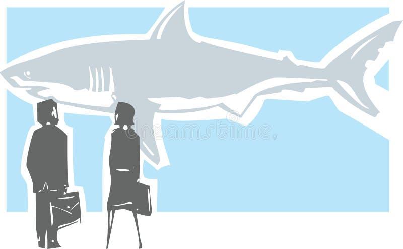 Dangerous Shark Meeting vector illustration