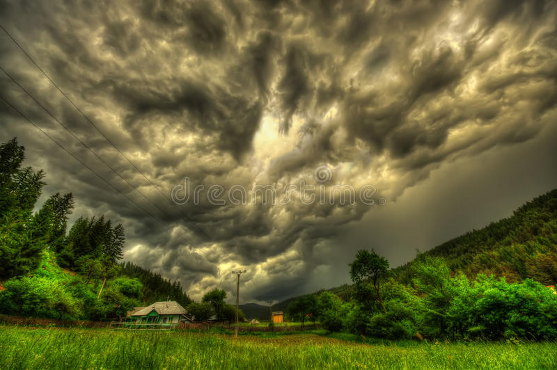 Dangerous storm clouds royalty free stock image