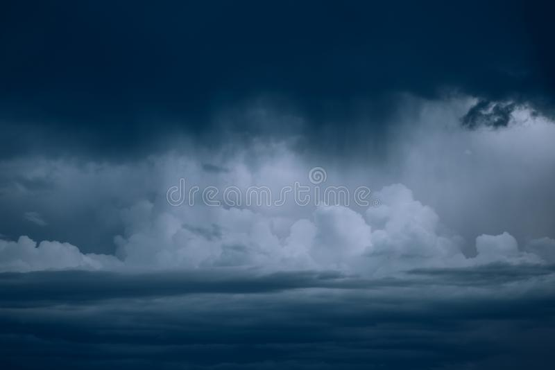 Dangerous stormy clouds royalty free stock photography