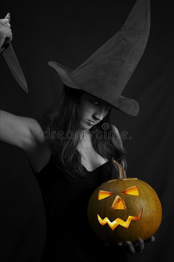Dangerous Witch Royalty Free Stock Photos