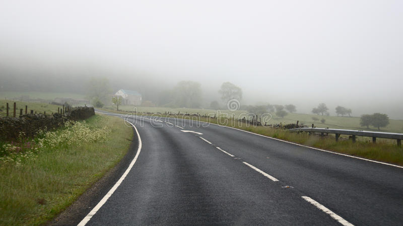 Download Dangers Of Driving In Fog - Road Turn Stock Image - Image: 19772941