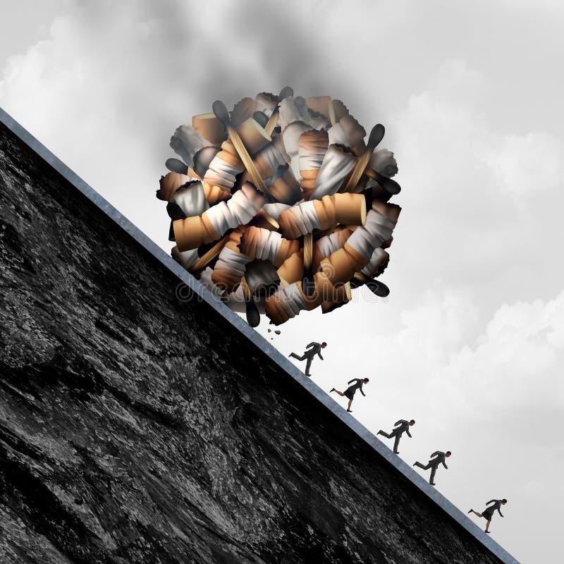 Dangers du tabagisme illustration stock