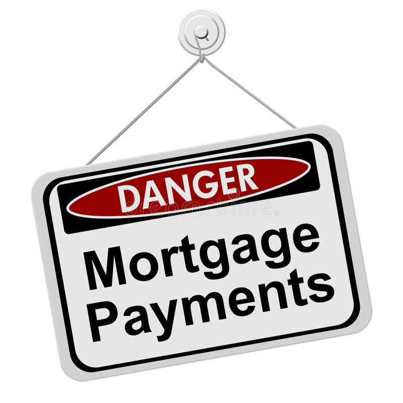 Dangers of having Mortgage Payment royalty free illustration