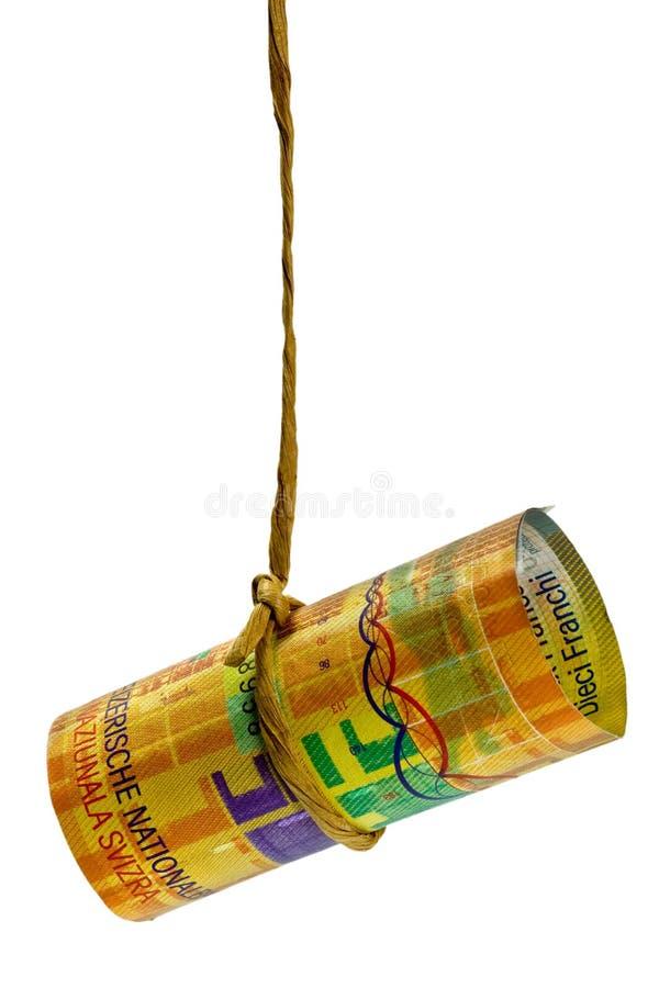 Download Dangling Swiss Franc Stock Photo - Image: 7163380