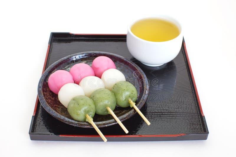 Dango Japans bol en snoepje stock afbeelding