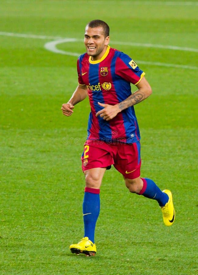 Dani Alves de FC Barcelona imagem de stock