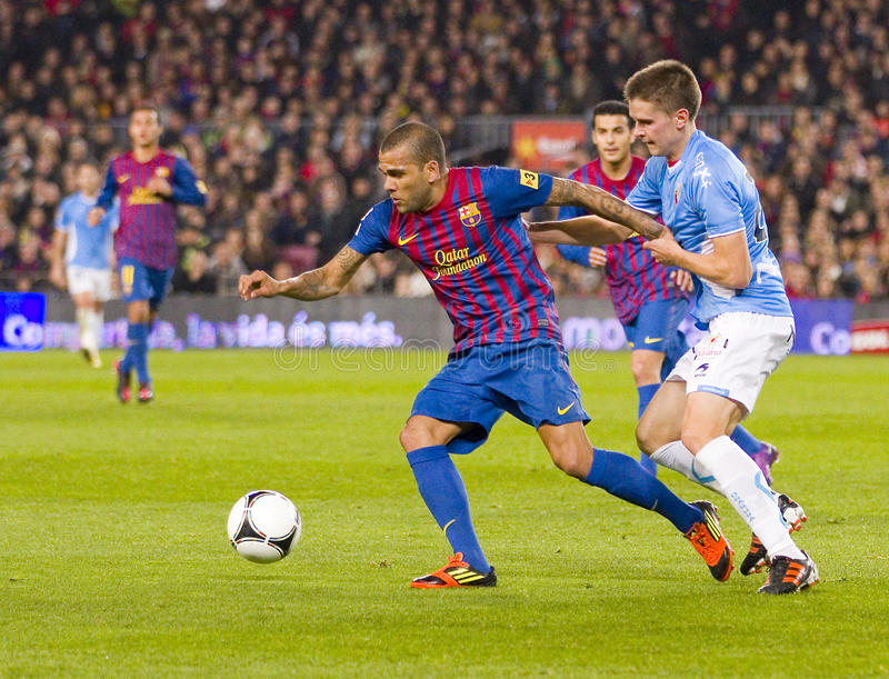 Dani Alves de FC Barcelona photos libres de droits