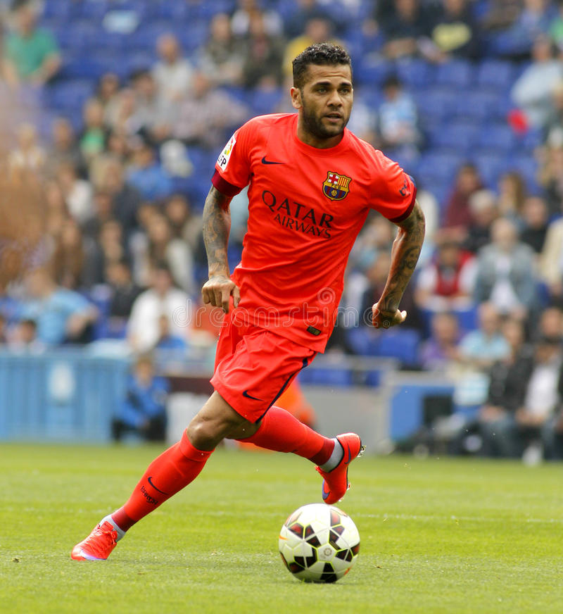 Dani Alves del FC Barcelona imagenes de archivo