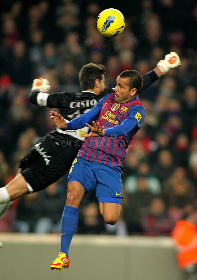 Dani Alves van FC Barcelona royalty-vrije stock foto