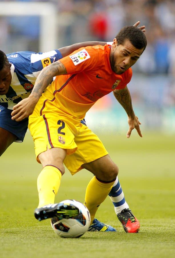 Dani Alves van FC Barcelona stock foto