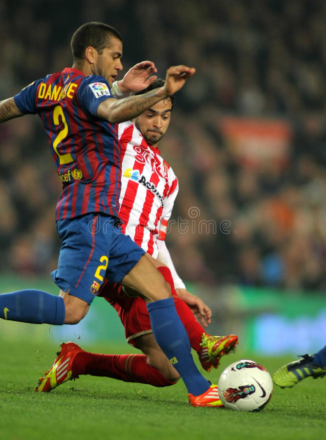 Download Dani Alves Vies With Nacho Cases Editorial Photography - Image: 24104957