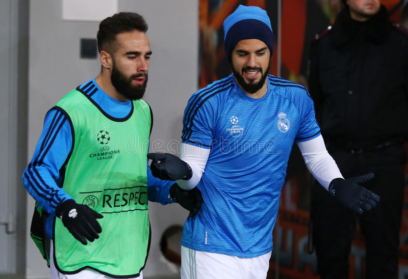 Download Dani Carvajal E Raphael Varane Do Real Madrid Fotografia Editorial - Imagem de emoções, spain: 65577107