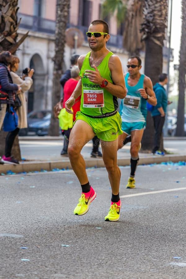 Dani Cuartero牧师赛跑者10000m 免版税库存照片