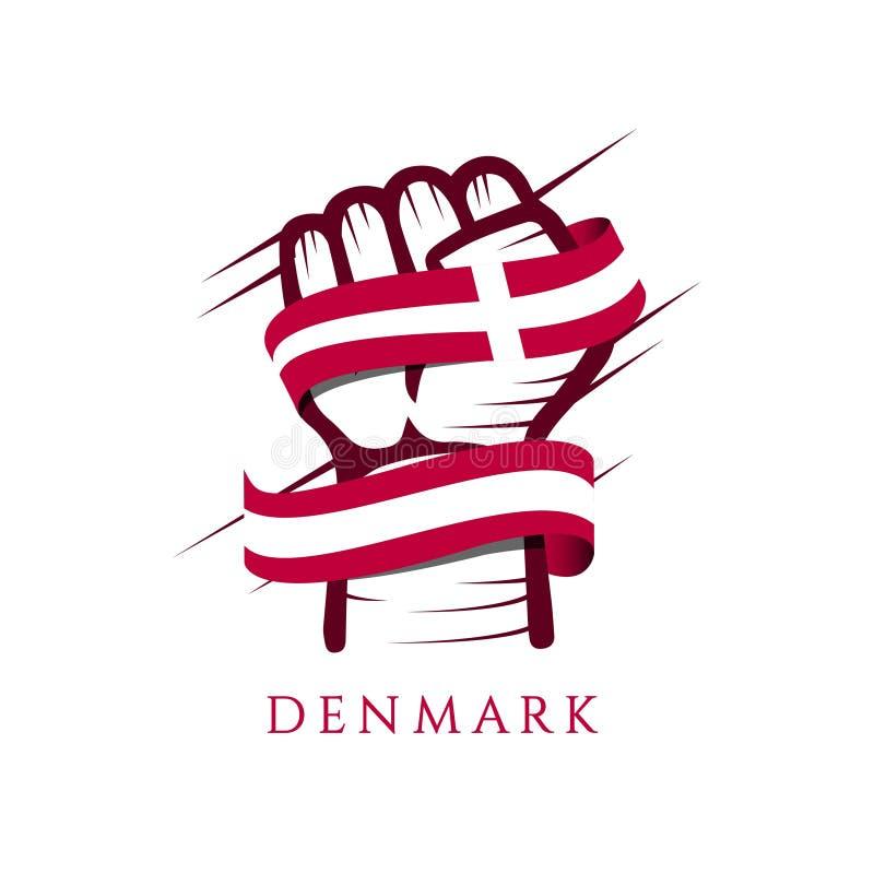 Dani flagi i ręki szablonu projekta Wektorowa ilustracja ilustracji