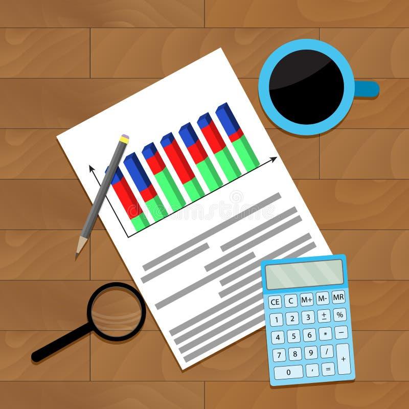 Dani gospodarcze statystyki ilustracja wektor