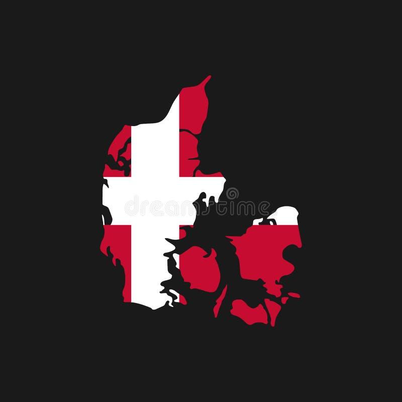 Dani mapa na białym tło wektorze, Dani mapy konturu kształta czerń na Białej Wektorowej ilustracji, wysokość wyszczególniał czerń royalty ilustracja