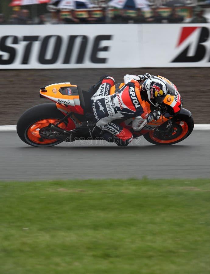 Dani Pedrosa Donington MotoGP 2009 royalty-vrije stock fotografie