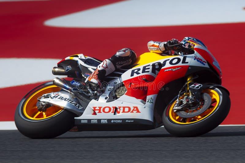 Dani Pedrosa MotoGP Montmelo imagen de archivo libre de regalías